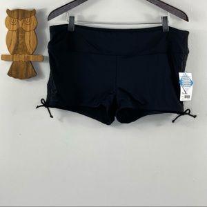 Athleta black scrunch shorts